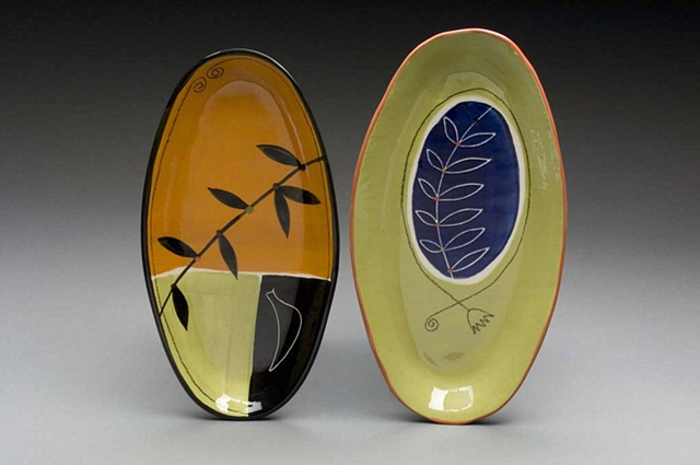 Two Oval Plates