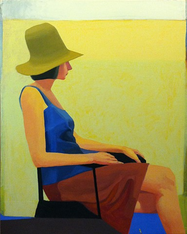 Richard Diebenkorn straw hat finished