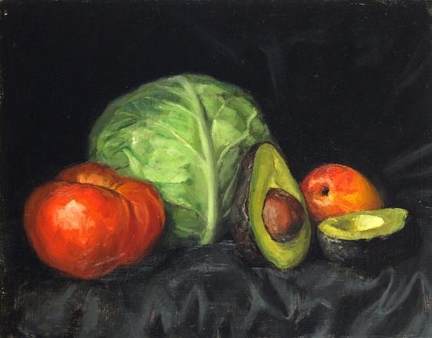 Cabbage and Fruit