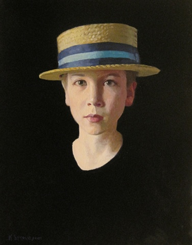 Sam in a Straw Hat