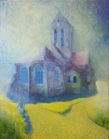 vincent van gogh church at auvers  finished kyle stevenson