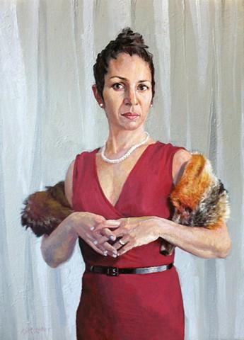 Sarah with a Fox Stole