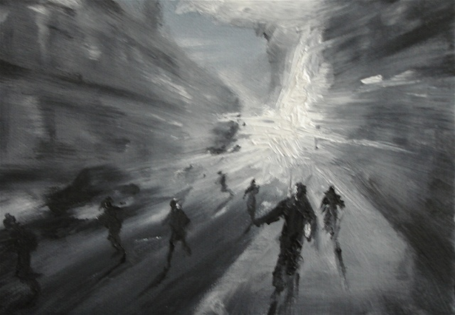 Painting in Black and White War Series