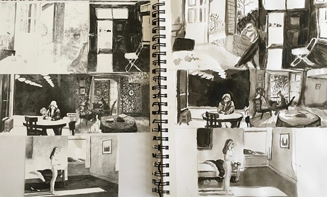 Sylvia Bartels, Sketchbook, Painting II