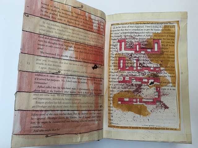 Altered Book - Drawing II Final Project