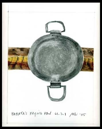 Drawing after Babatha's Frying Pan, Bar Kokhba