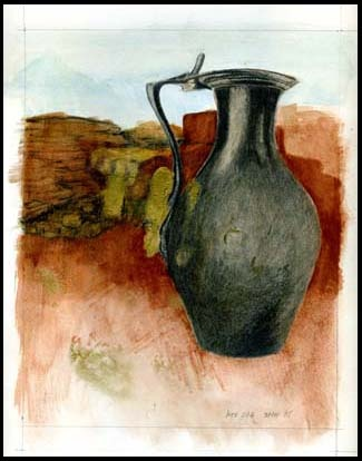 Drawing after a jug belonging to Babatha, Bar Kokhba