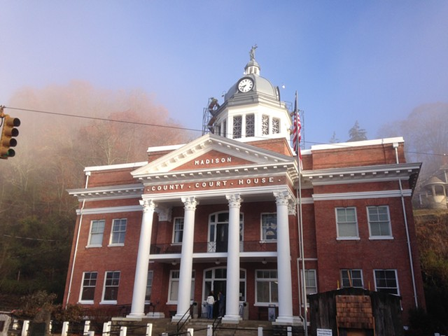 Madison County courthouse historic restoration project. NC.