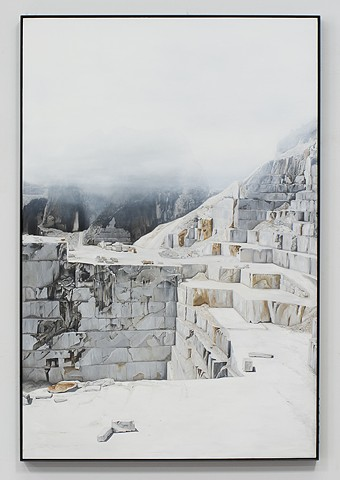 Carrara in Fog