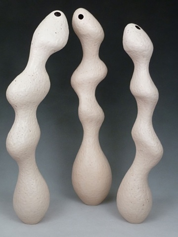 handbuilt, coiled ceramic sculpture