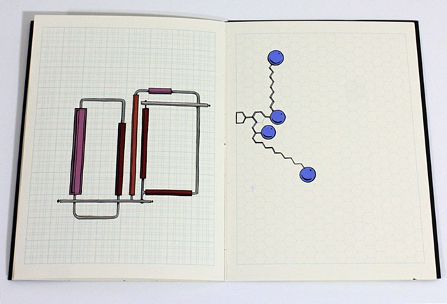 hand-painted ideas in a gridded notebook supplied by Kayrock Screenprinting