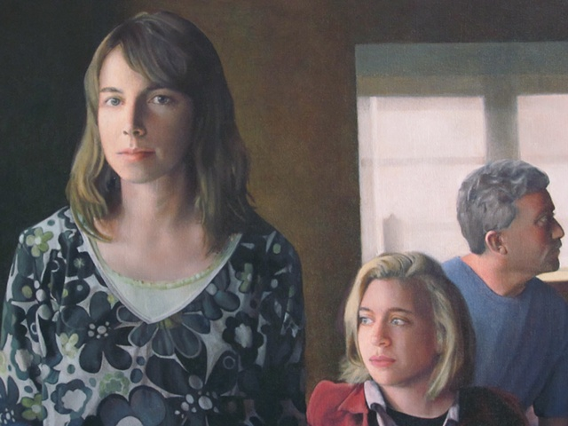 Two Women And A Man (detail)