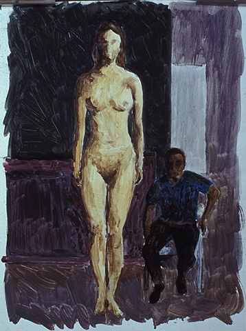 Woman And Man Study