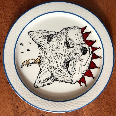 Foxy! Illustrated Plate