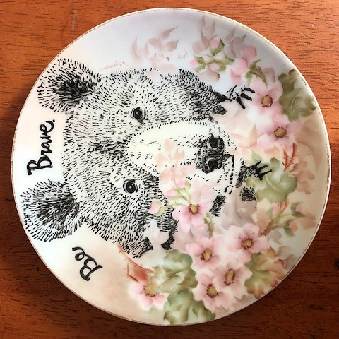 Be Brave, Illustrated Plate