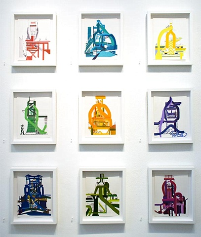 Installation View of Becher Series