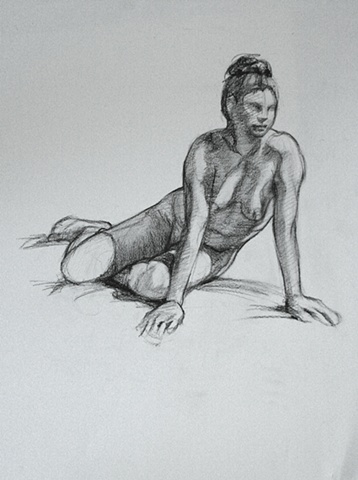 Figure drawing, Life Drawing, Female Nude,