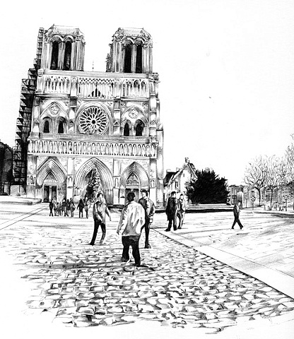 Notre Dame Plaza Panorama, detail