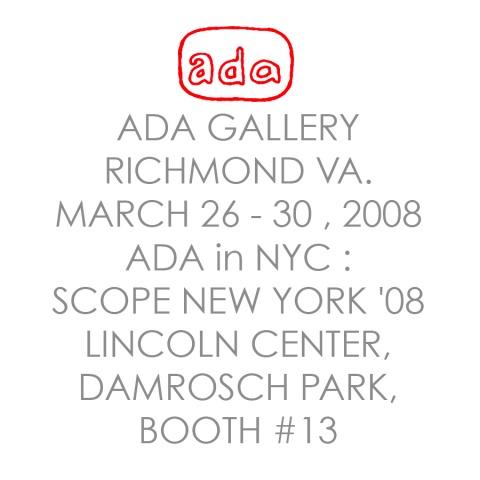 ADA GALLERY @ SCOPE ART FAIR  NYC @))*