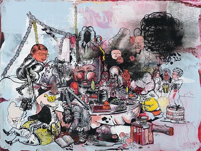 daniel davidson drawing dirty art painting ada new york artist sloan painter gallery SFAI