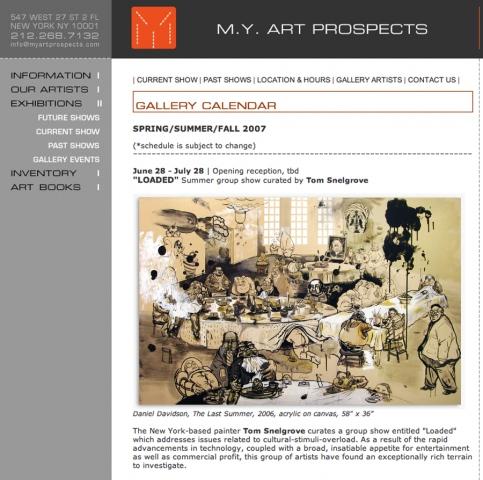 June 28 M.Y. Art Prospects, 27th st