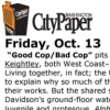"Jessica Dawson,""Good Cop, Bad Cop"" The Washington Post, Oct 28, 2006"