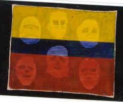 Mascaras en la Bandera