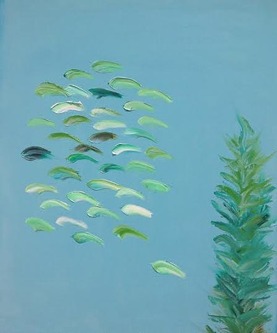 Light Aqua Schools No. 9