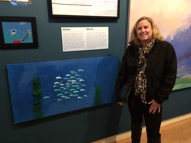 """Oblong Schools no. 11"" and me at the Santa Cruz Museum of Art and History"