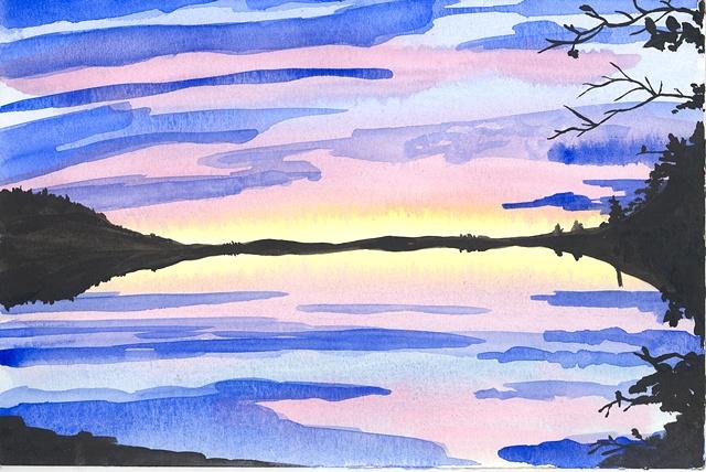 Estuary Reflection (framed)