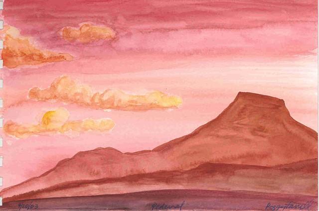 Pedernal Sunset