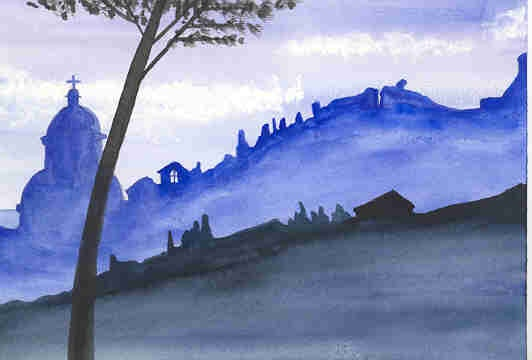 Silhouette of Todi(blue)