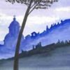 Silhouette of Todi (blue)