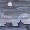 Moon over Ricefield