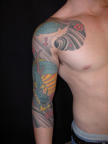 jerry 3/4 sleeve dragon 3