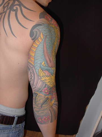 jerry 3/4 sleeve dragon 1