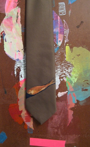vintage neck tie, hand printed, original design