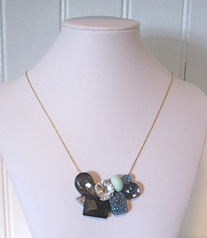 One of a kind rhinestone necklace