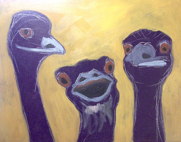 Three Emus (step 2)