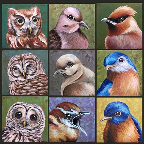 Bird portraits (step 3/ finished)