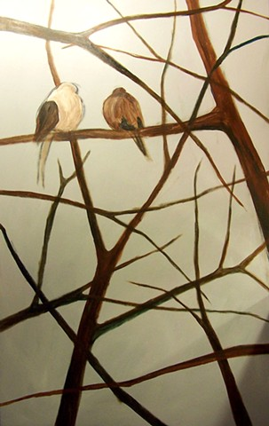 Two Mourning Doves (step 2)