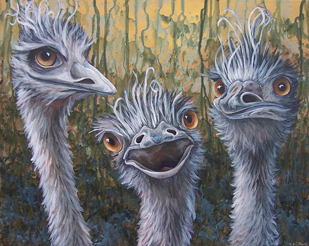 Three Emus (step 9/ finished)