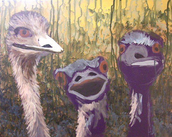 Three Emus (step 4)