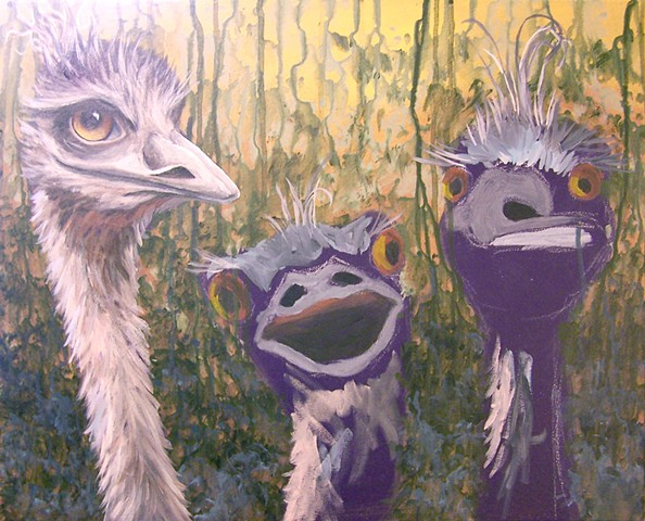 Three Emus (step 5)
