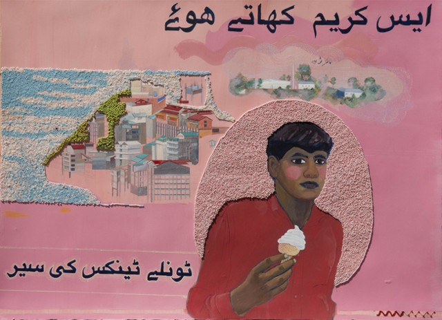 saba khan pakistani artist ice cream