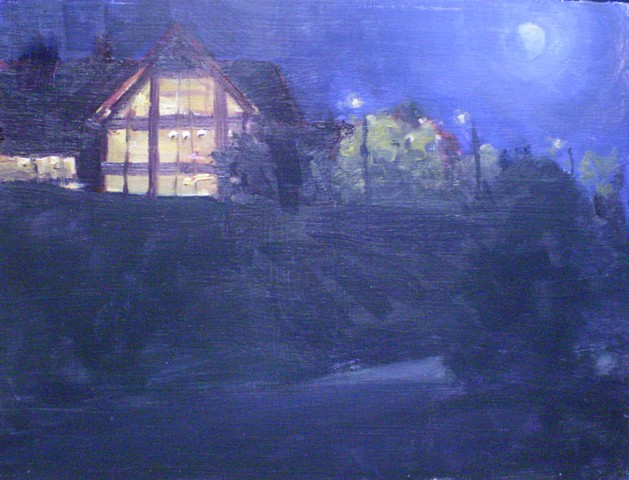 impressionist plein air landscape painting big Cedar Lodge