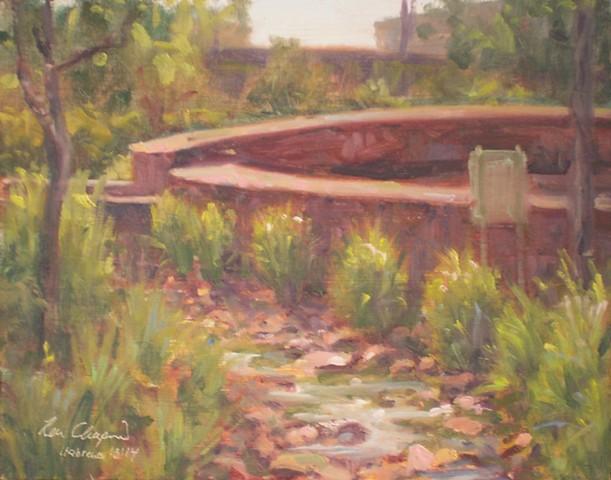 Plein air impressionist cityscape painting Tulsa Oklahoma