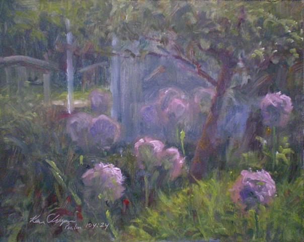 plein air floral painting