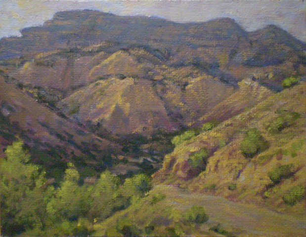 plein air landscape painting ghost ranch new mexico