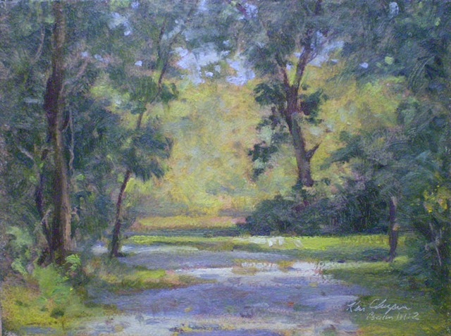 Burr Oak Woods Plein Air Painting Ken Chapin Missouri